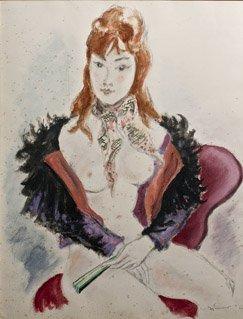 18: ANDRÉ DIGNIMONT (1891-1965) Cocotte parisienne Aqua