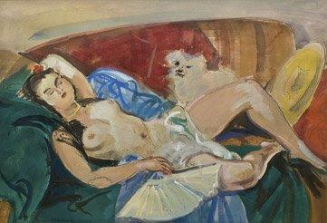 19: ANDRÉ PLANSON (1898-1981) La sieste Gouache, signée