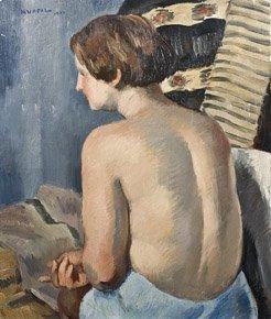 20: CHARLES KVAPIL (1884-1957) Nu de dos Huile sur toil