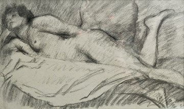 21: THÉOPHILE-ALEXANDRE STEINLEN (1859-1923) Nu allongé