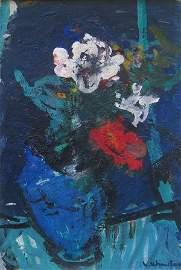 108: VASSYL KHMELUK (1903-1986) Bouquet de fleurs Huile