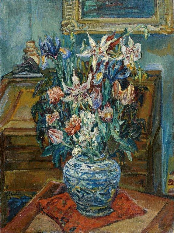 153: HENRI EPSTEIN (1892-1944) Bouquet de fleurs Huile