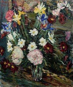 212: DIMITRI BEREA (1908-1975) Bouquet de fleurs Huile