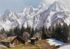 1: Marcel WIBAULT (1904-1998) Montblanc du Tacul Aiguil