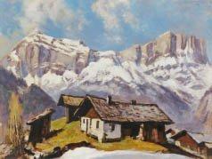 5: Marcel WIBAULT (1904-1998) Rocher des Fys Huile sur