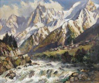 6: Marcel WIBAULT (1904-1998) Aiguilles de Chamonix, vi