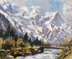 6B: Marcel WIBAULT (1904-1998) Mont Blanc dome et aigui