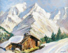 6C: Marcel WIBAULT (1904-1998) Le Mont d'Arbois et le M