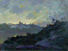 10: Émile CAGNIART (1851-1911) Paysage de montagne Huil