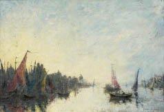 16: André GUERIN LE GAY (né en 1872) Barques dans la la