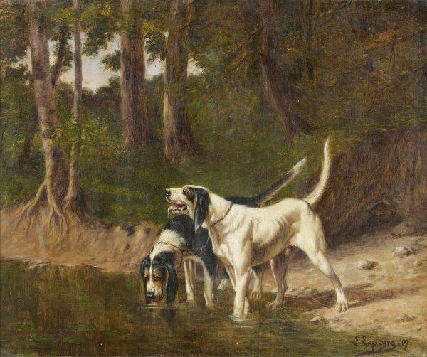 17: Edmond-Edouard LAPEYRE (1880-1960) La halte des chi