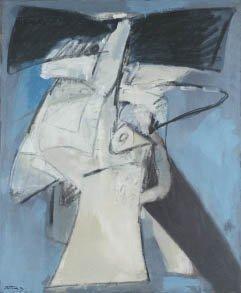 168: Albert BITRAN (né en 1929) Composition Huile sur t