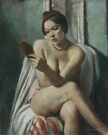 1001: Vera ROCKLINE (1896-1934) Nu au béret rouge à sa