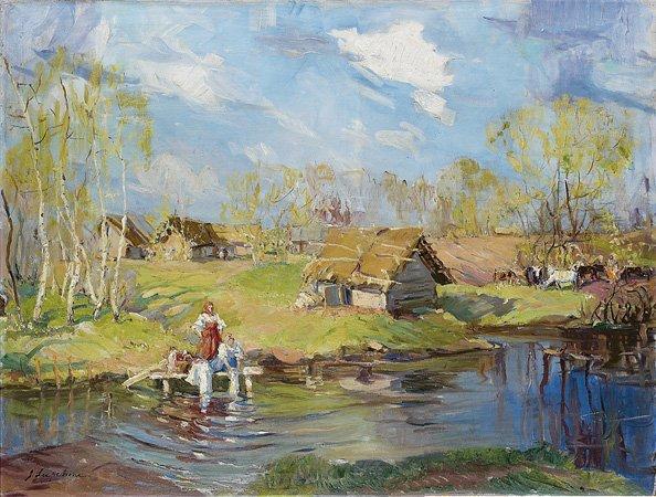 1006: Georges LAPCHINE (1885-1951) Première verdure, Ru
