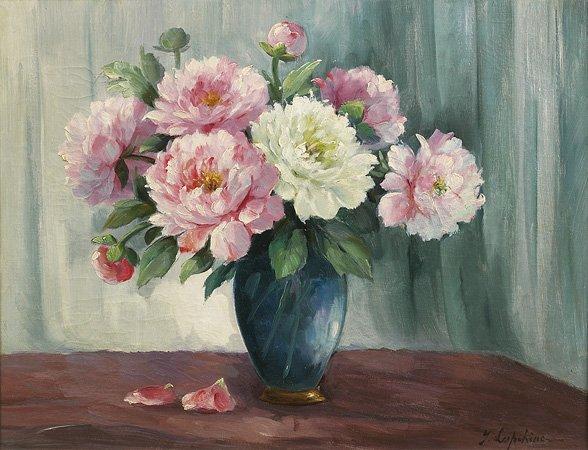1007: Georges LAPCHINE (1885-1951) Bouquet de fleurs Hu