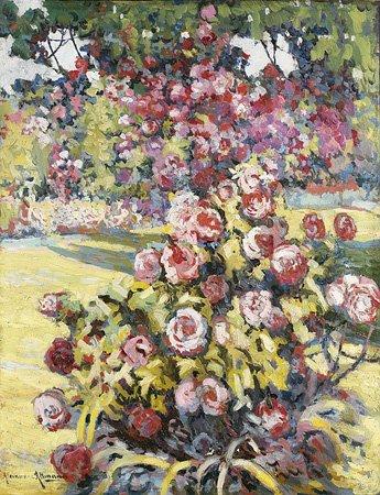 1009: Alexandre ALTMANN (1885-1950) La roseraie Huile s