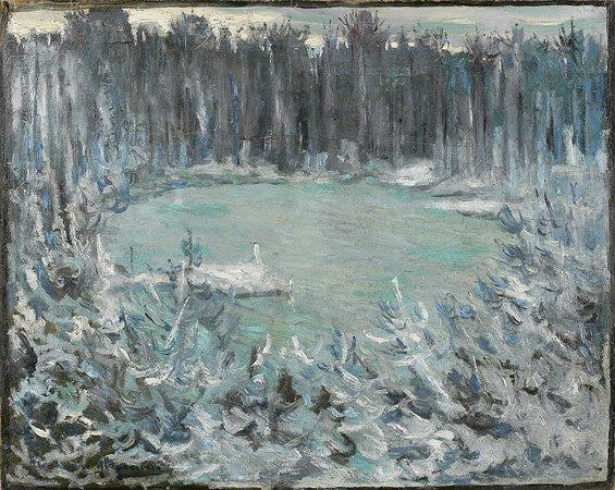 1010: Alexandre ALTMANN (1885-1950) Le lac en hiver Hui