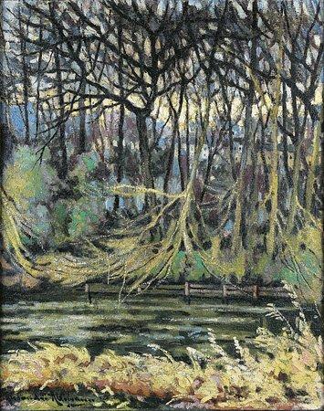 1011: Alexandre ALTMANN (1885-1950) Sous-bois Huile sur