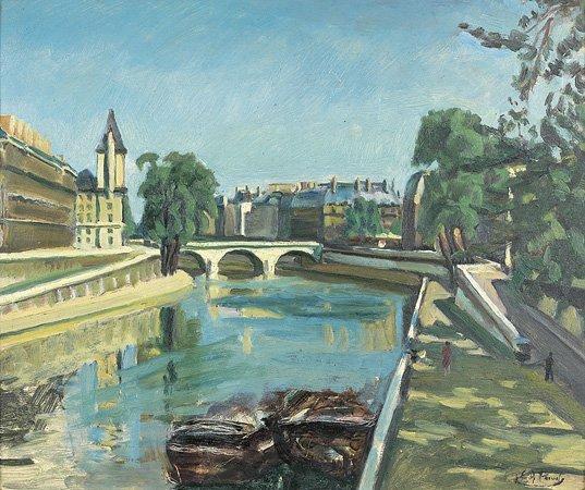 1012: Elie-Anatole PAVIL (1873-1948) Paris, le quai des