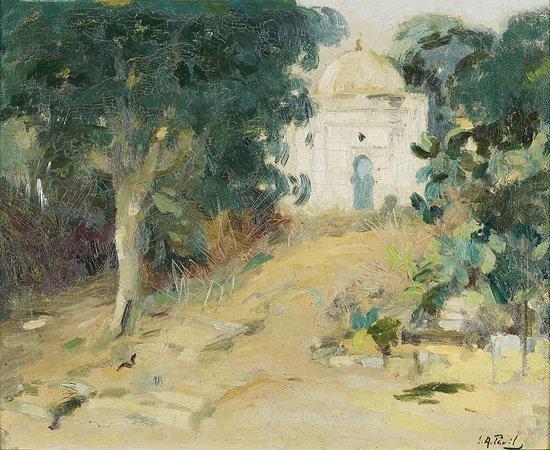 1013: Elie-Anatole PAVIL (1873-1948) Marrakech Huile su