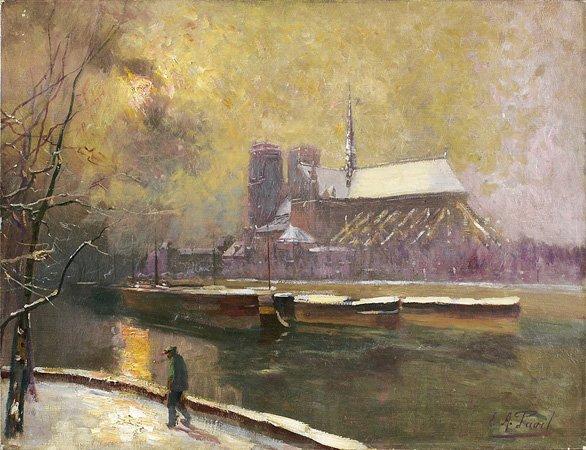 1014: Elie-Anatole PAVIL (1873-1948) Promenade sur le q