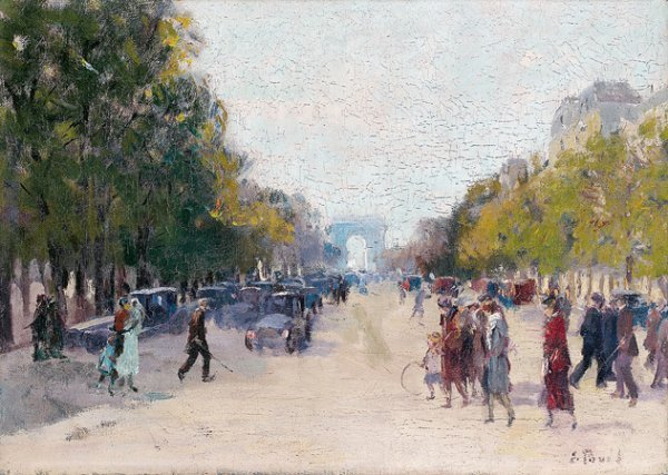 1015: Elie-Anatole PAVIL (1873-1948) Les Champs-Élysées