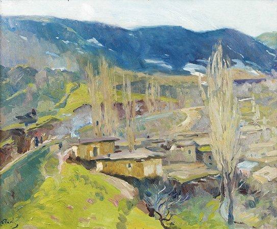 1016: Elie-Anatole PAVIL (1873-1948) Paysage montagneux
