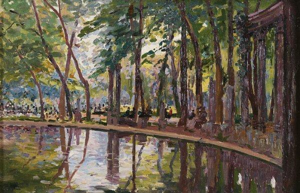 1019: Elie-Anatole PAVIL (1873-1948) Le parc Monceau, a