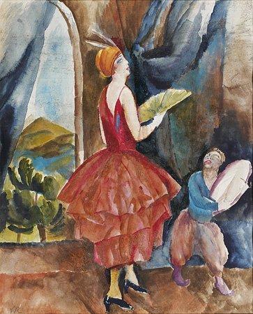 1021: Vera ROCKLINE (1896-1934) Danseuse à l'éventail,
