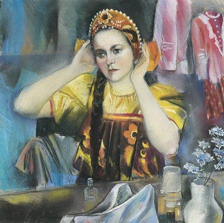 1024: Zinada SEREBRIAKOVA (1884-1967) Jeune actrice rus