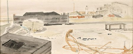 3: Maurice BRIANCHON (1899-1979)* Le port Aquarelle, si