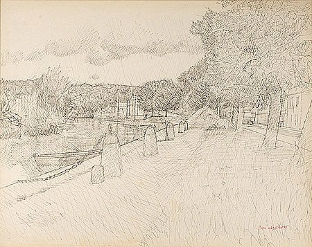 7: Maurice BRIANCHON (1899-1979)* Le canal Dessin, sign