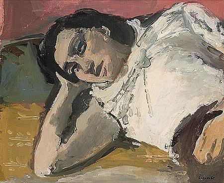 9: Raymond Jean LEGUEULT (1898-1971)* Jeune fille dorma