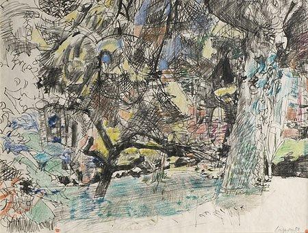 10: Raymond Jean LEGUEULT (1898-1971)* Paysage Aquarell