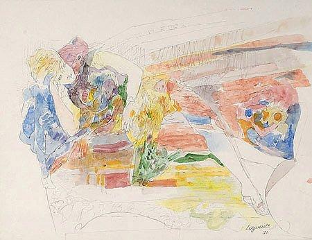 14: Raymond Jean LEGUEULT (1898-1971)* Émilienne au rep