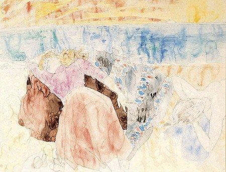 16: Raymond Jean LEGUEULT (1898-1971)* Femmes Aquarelle
