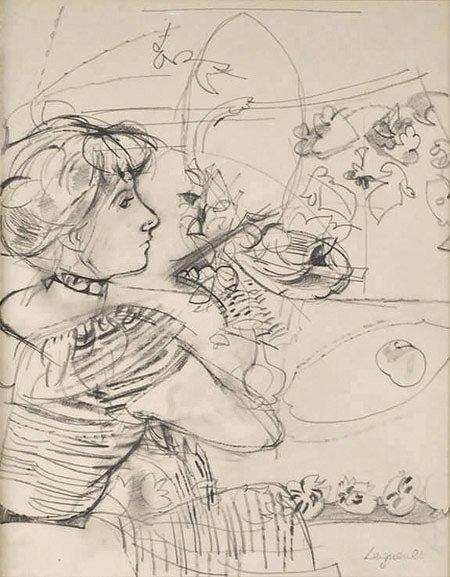 17: Raymond Jean LEGUEULT (1898-1971)* Émilienne Dessin