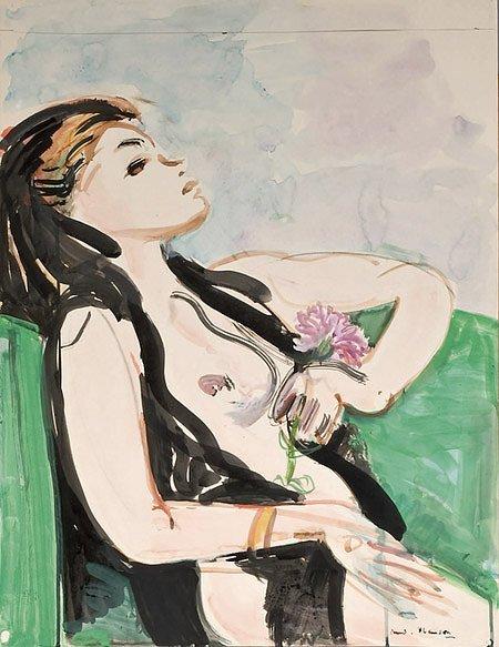 19: André PLANSON (1898-1981)* Rêverie Aquarelle 65 X 5