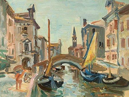 22: André PLANSON (1898-1981)* Chiogga Huile sur toile,