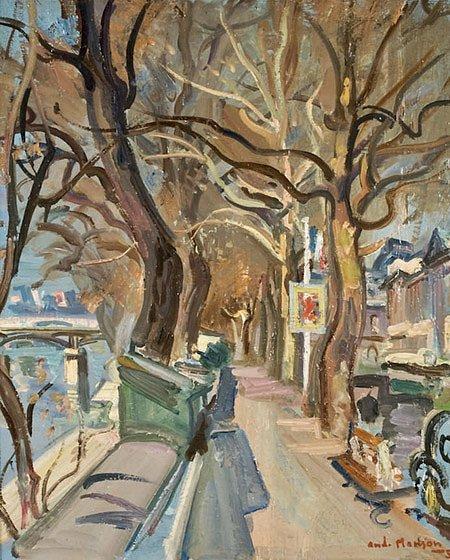 24: André PLANSON (1898-1981)* Bords de la Seine Huile