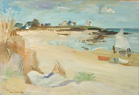 25: André PLANSON (1898-1981)* Plage de St Colomban Hui