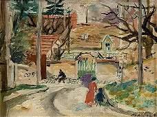 210: Emilio GRAU-SALA (1911-1975) Le Chemin Huile sur t