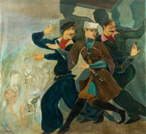 1060: Lado GOUDIACHVILI (1896-1980) Sc�ne de cabaret, 1