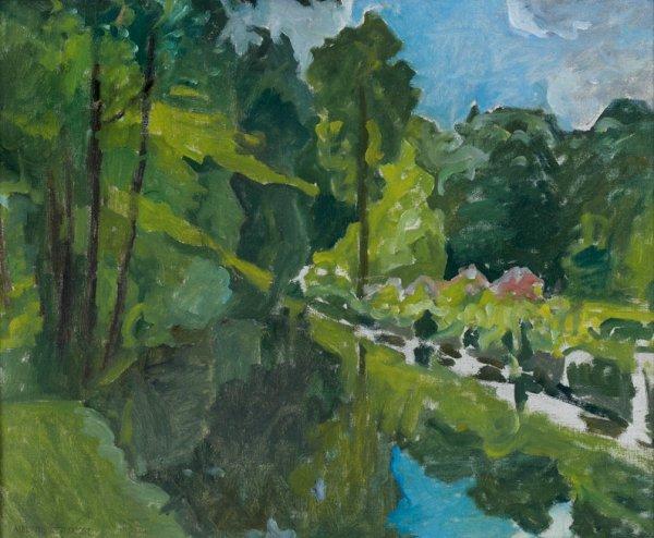 8: Ernest QUOST (1844-1931)  Paysage  Huile sur toile,