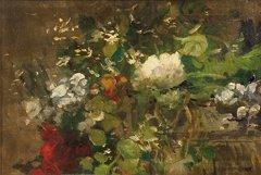 9: Ernest QUOST (1844-1931)  Bouquet de fleurs  Huile s