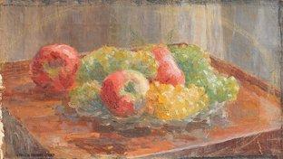 12: Ernest QUOST (1844-1931)  Nature morte aux raisins