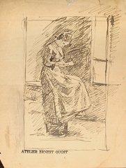 17: Ernest QUOST (1844-1931)  Scènes d'intérieur et div