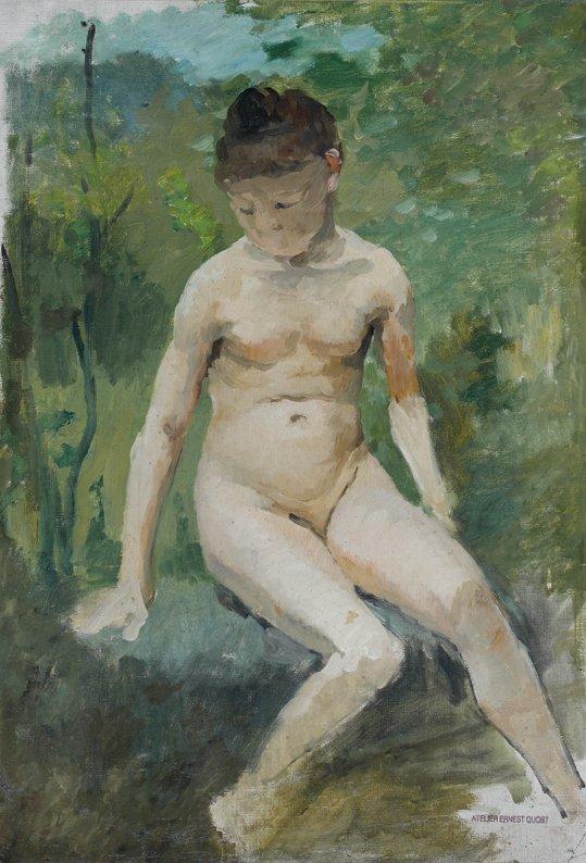 19: Ernest QUOST (1844-1931)  Le nu  Huile sur toile, s