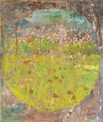 21: Ernest QUOST (1844-1931)  Le jardin  Huile sur toil
