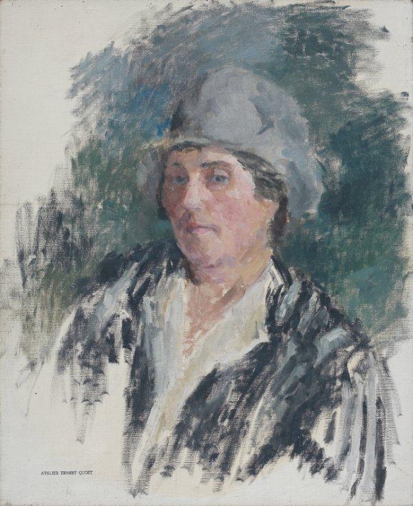 22: Ernest QUOST (1844-1931)  Portrait  Huile sur toile